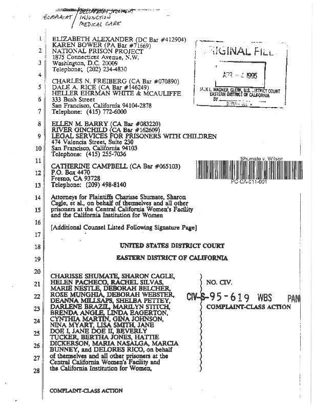 Shumate V. Wilson Complaint Class Action.pdf